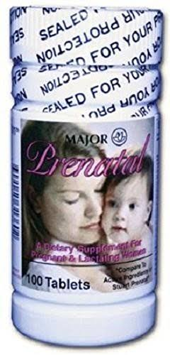 Major Prenatal Vitamins - 100 Tablets