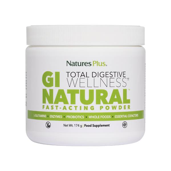 Nature's Plus GI Natural Total Digestive Wellness Drink Powder Dietary Supplement - 174g