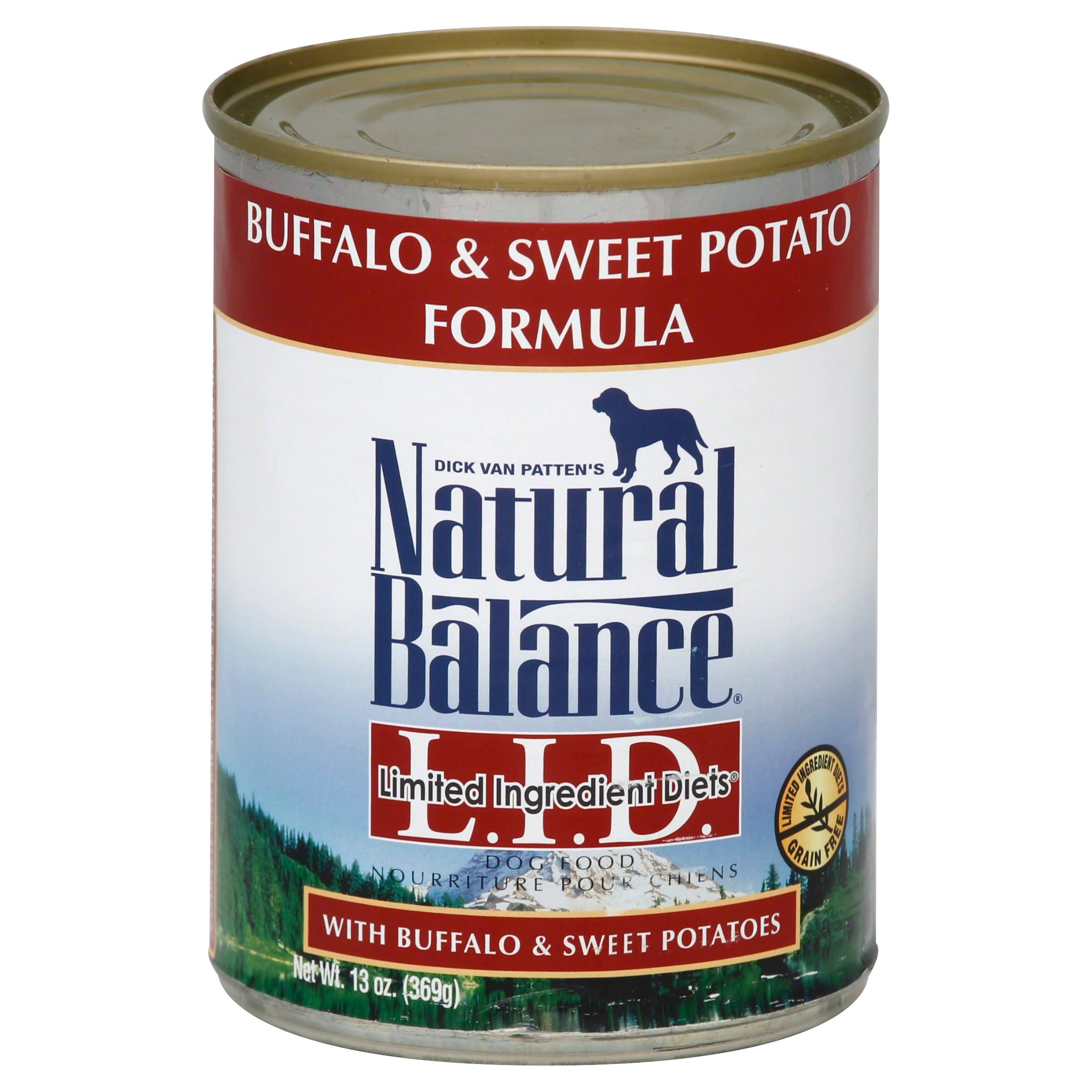 Natural Balance L.I.D. Limited Ingredient Diets Dog Food, Buffalo & Sweet Potato Formula - 13 oz
