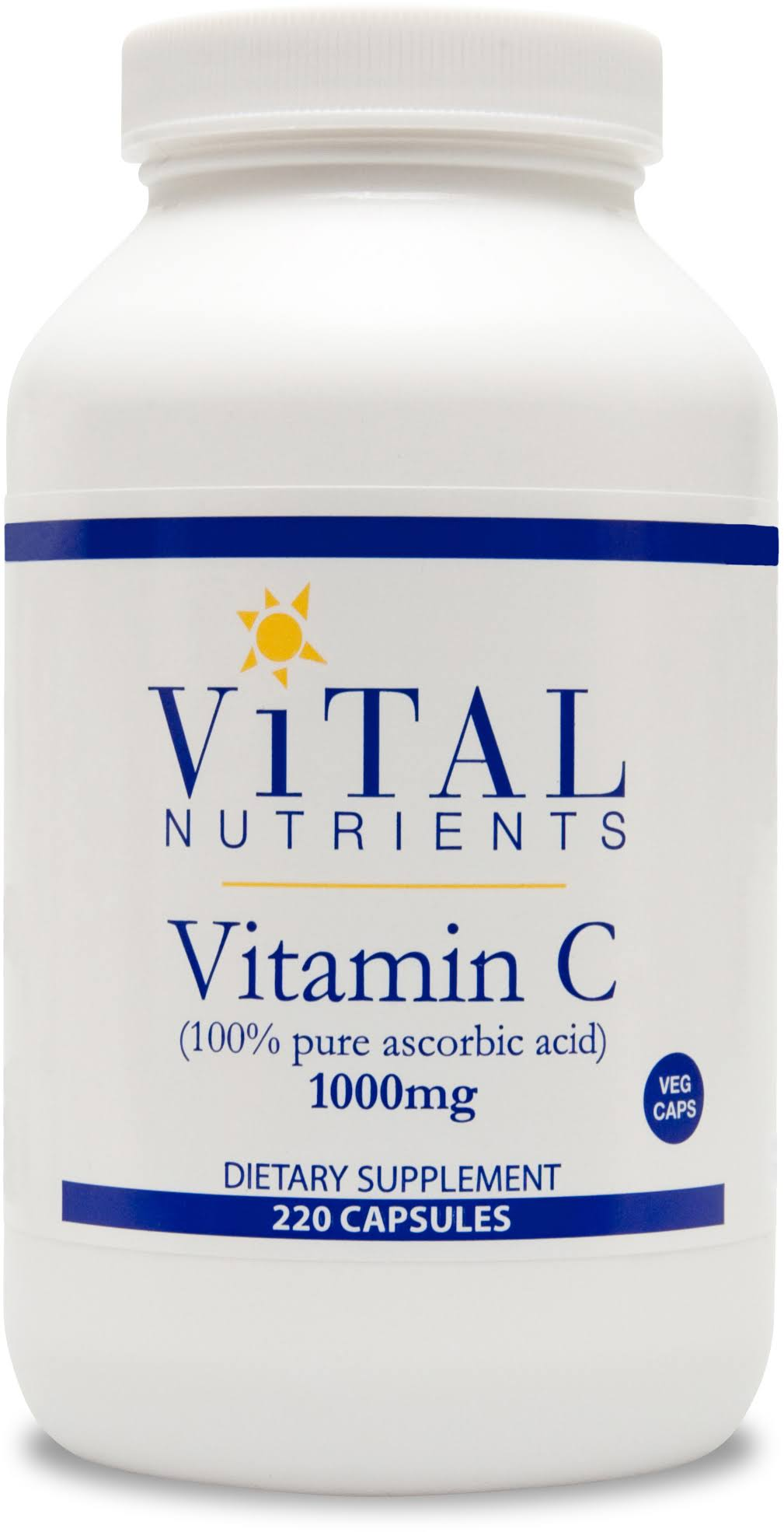 Vital Nutrients Vitamin C Supplement - 1000mg, 220 Capsules