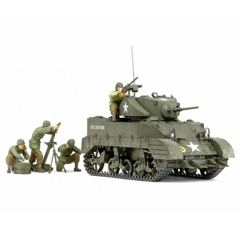 Tamiya 1/35 US M5A1 Light Tank with 4 Figures