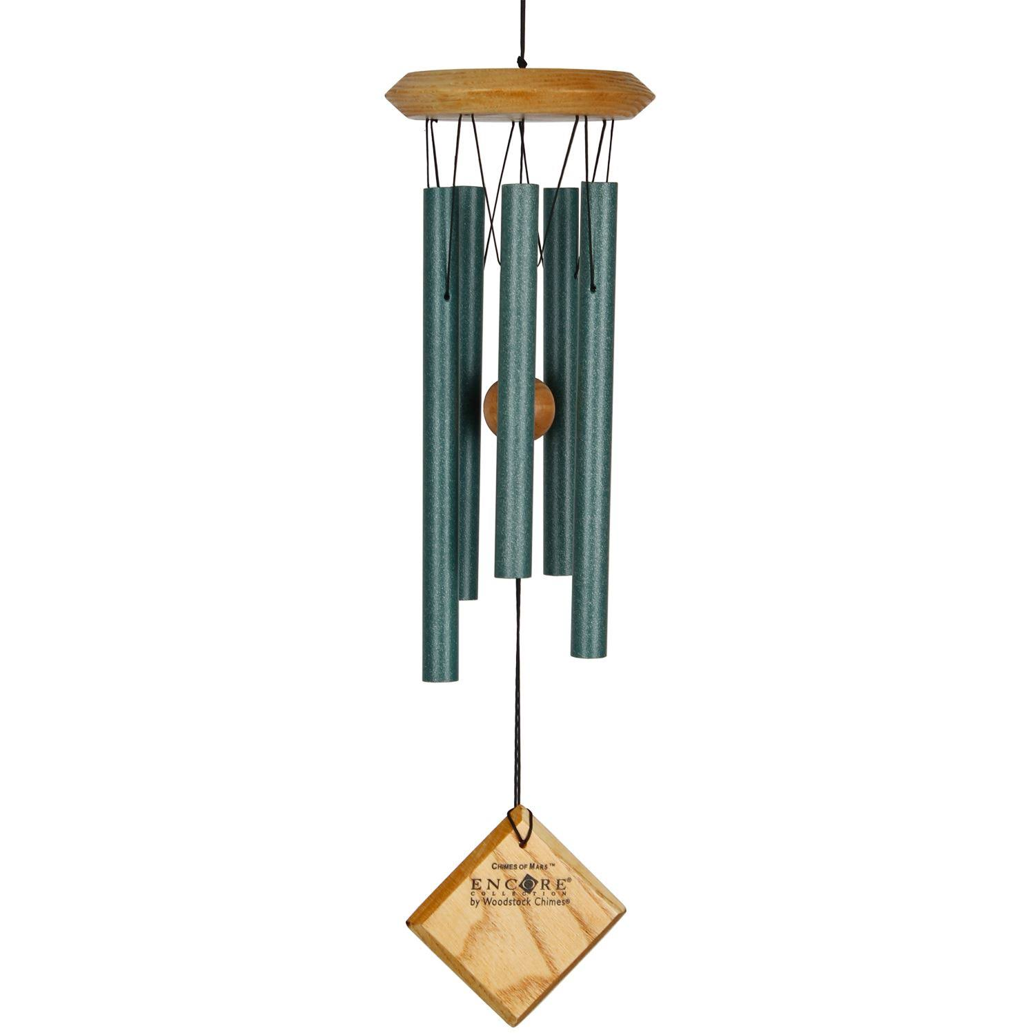 Woodstock Encore Collection Mars Wind Chime - Verdigris, 17""