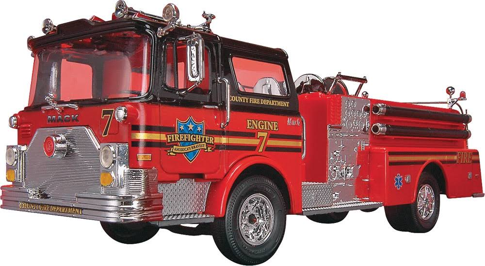 Revell Snap Tite Max Mack Fire Pumper Plastic Model Kit - 1/32 scale