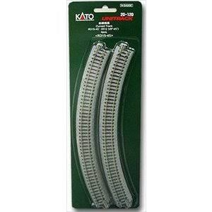 "Kato Unitrack R31545 N Gauge Toy Train Curved Track - 3/8"", 4pk"