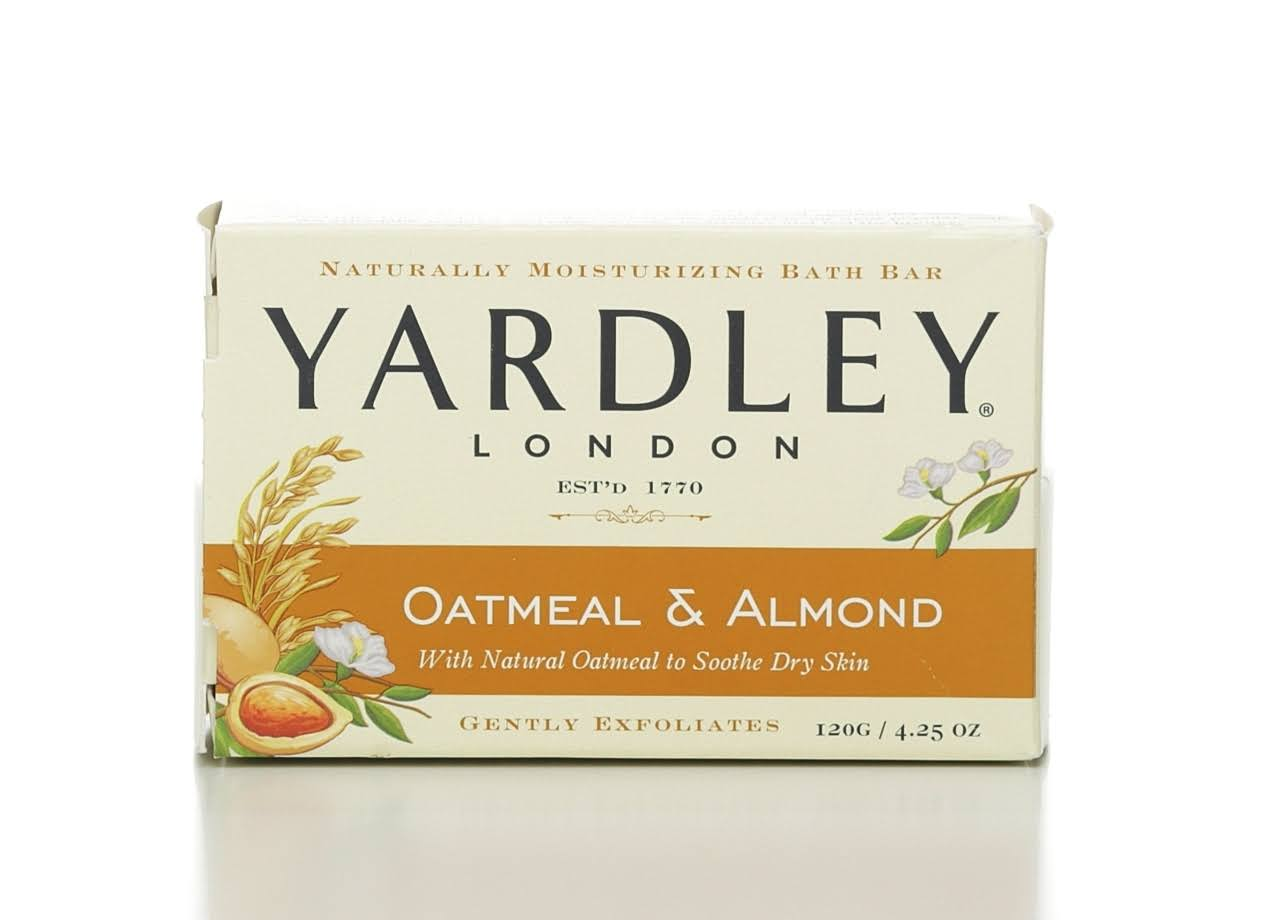 Yardley Naturally Moisturizing Bath Bar - 4.25oz, Oatmeal and Almond