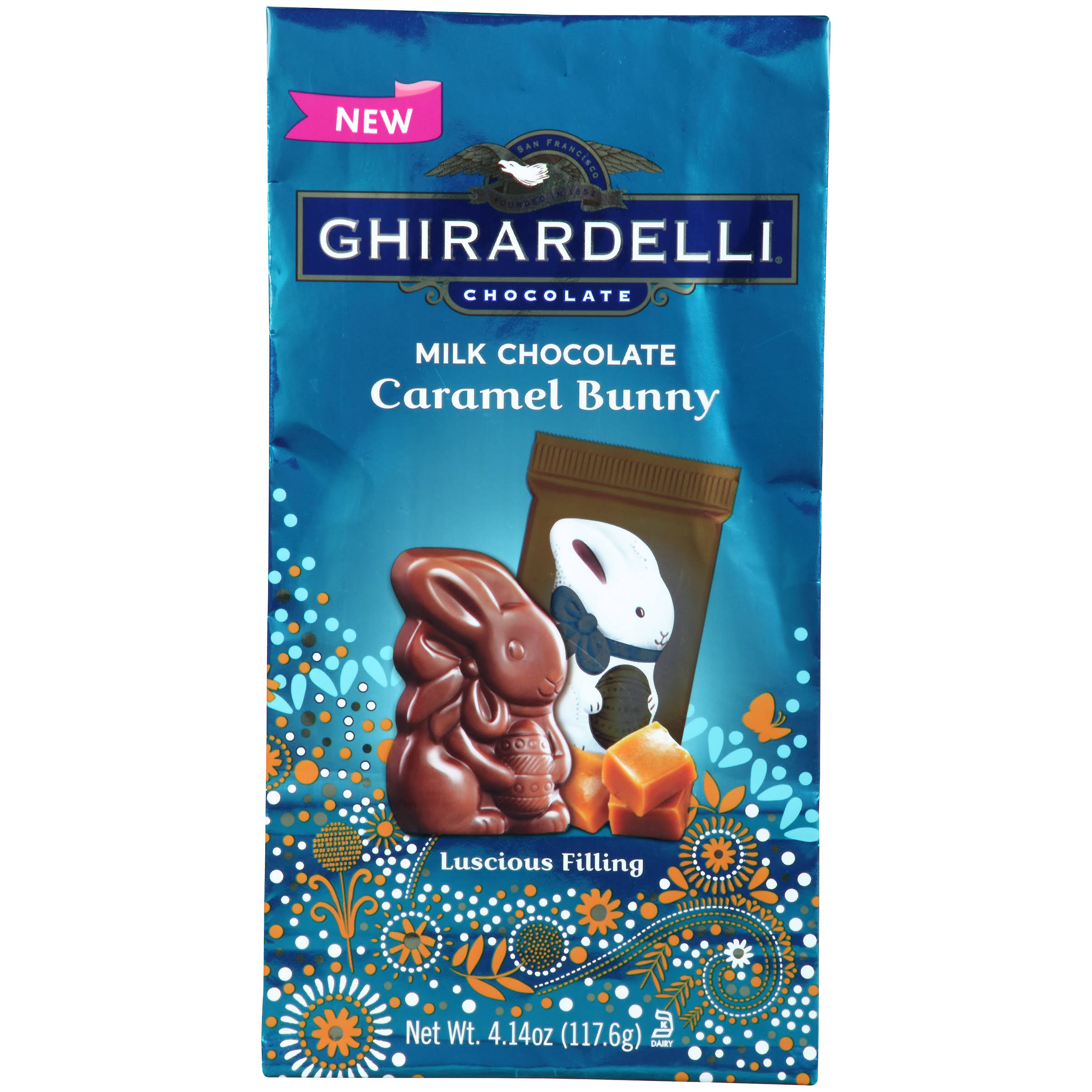 Ghirardelli Milk Chocolate - Caramel Bunny , 4.14oz
