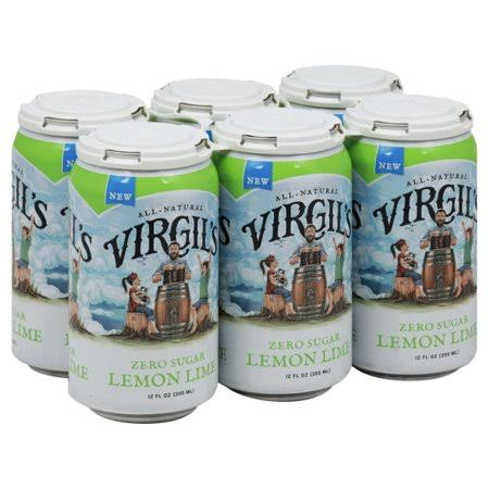 Virgil's Zero Sugar Lemon Lime - 6 pack, 12 fl oz cans