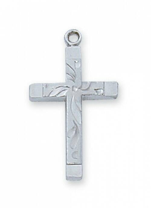 Sterling Silver Cross 18 inch Chain with Deluxe Box