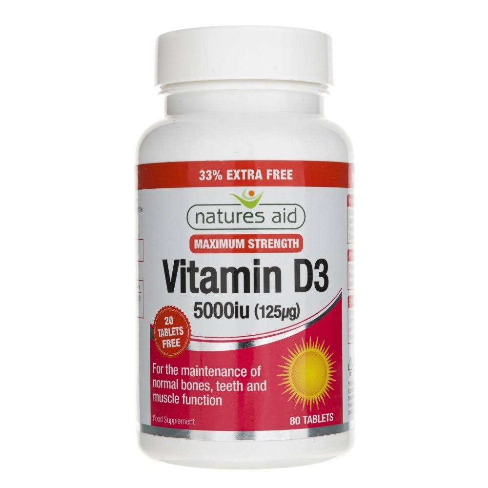 Natures Vitamin D3 Supplement - 5000iu, 80ct