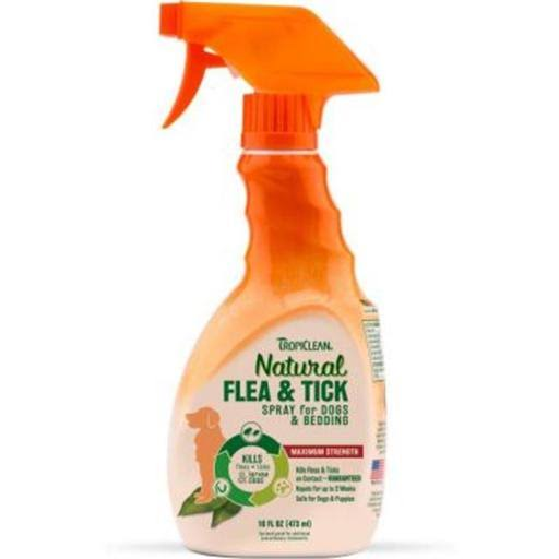 Tropiclean Natural Flea and Tick Spray for Pets - 16oz