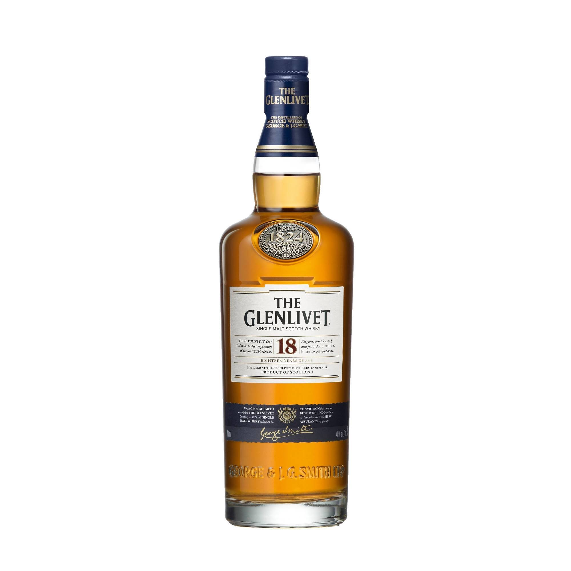 Glenlivet Whisky, Scotch, Single Malt - 750 ml