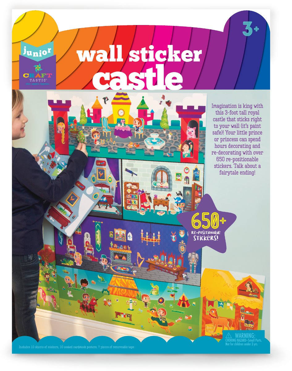 Craft-tastic Jr. Wall Sticker Castle Set