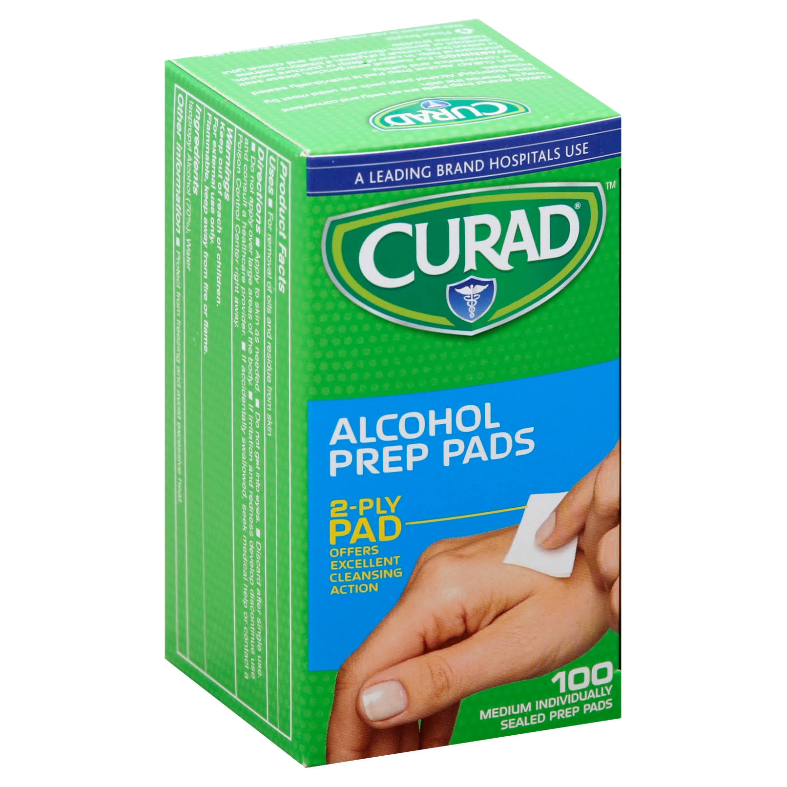 Curad Non Sterile Alcohol Swabs - 100ct, Medium