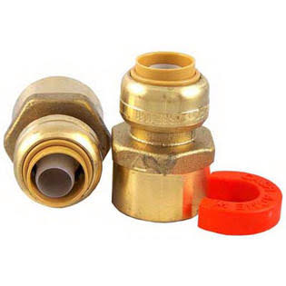 "Sharkbite Brass Water Heater Installation Kit - 1/2"" x 3/4"""