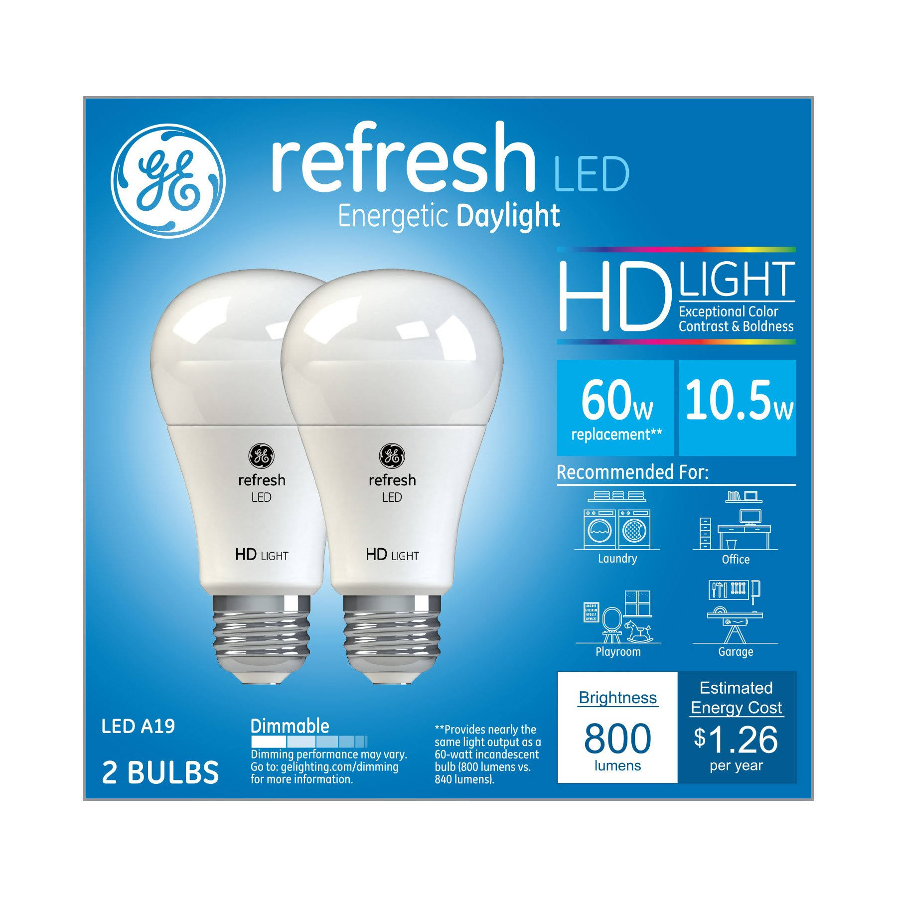 General Electric Refresh LED Energetic Daylight Bulb - 60W