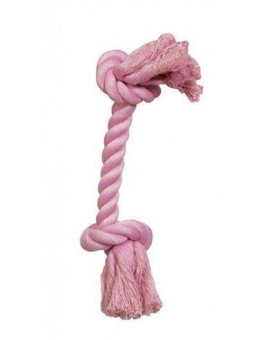 Hagen Dogit Cotton Rope Bone Dog Toy - Pink, Small