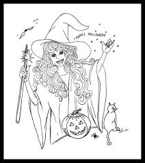 Scary Halloween Coloring Pages Online by Free Halloween Color Pages