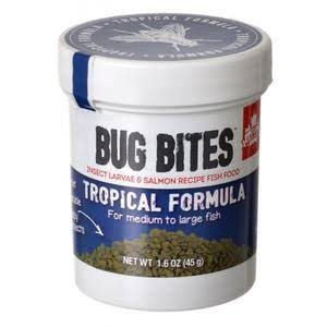 Fluval Bug Bites Tropical Formula Granules for Medium-Large Fish