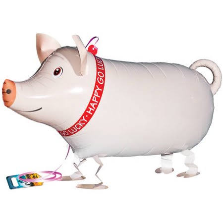 My Own Pet Animal Farm Pig Party Walking Balloons - 26""