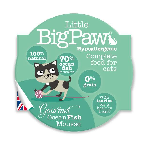 Little Big Paw Gourmet Ocean Fish Mousse Cat Food - 85g, 8pk