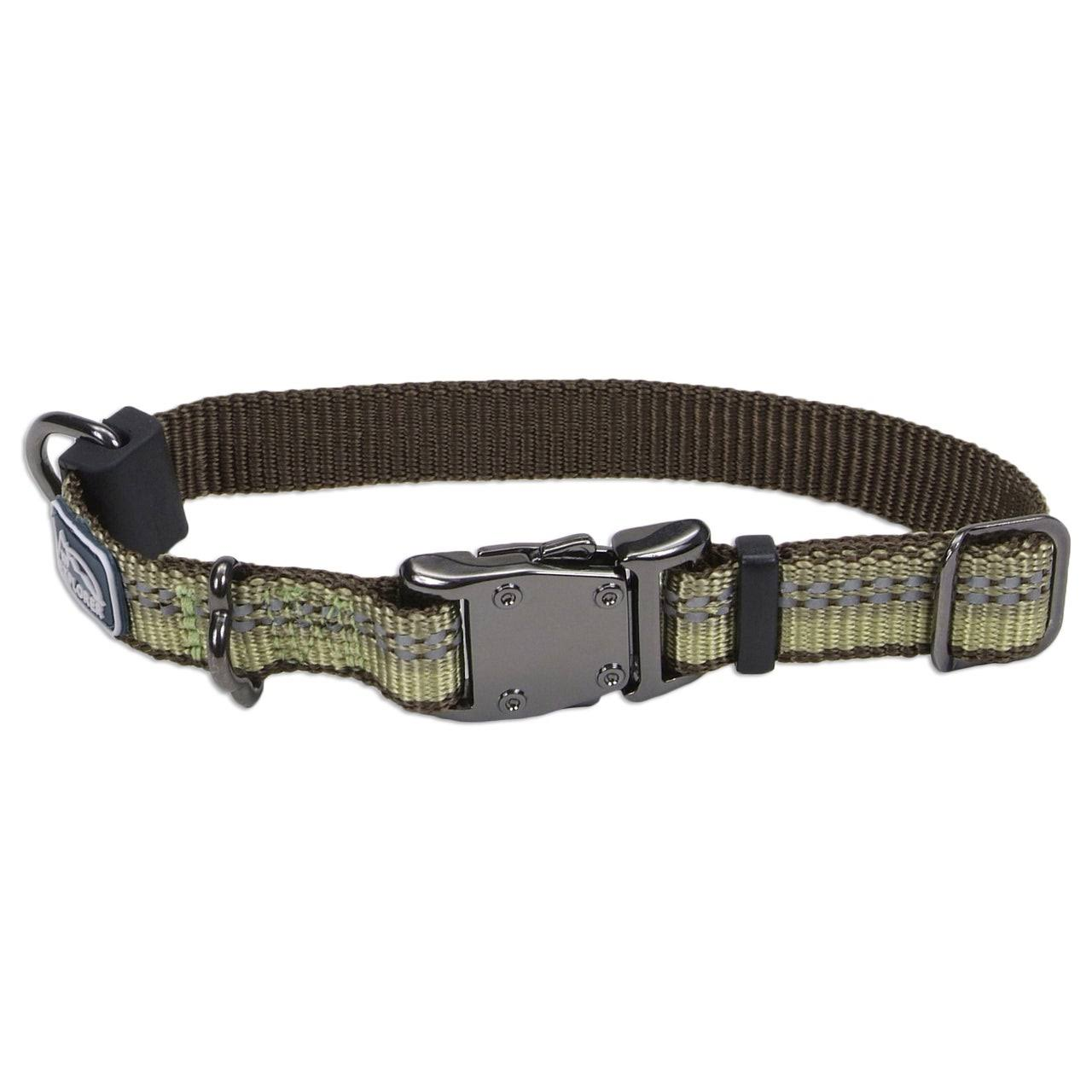 "Coastal Pet Products K9 Explorer Reflective Safety Dog Collar - Fern Green, 5/8"" x 10-14"""