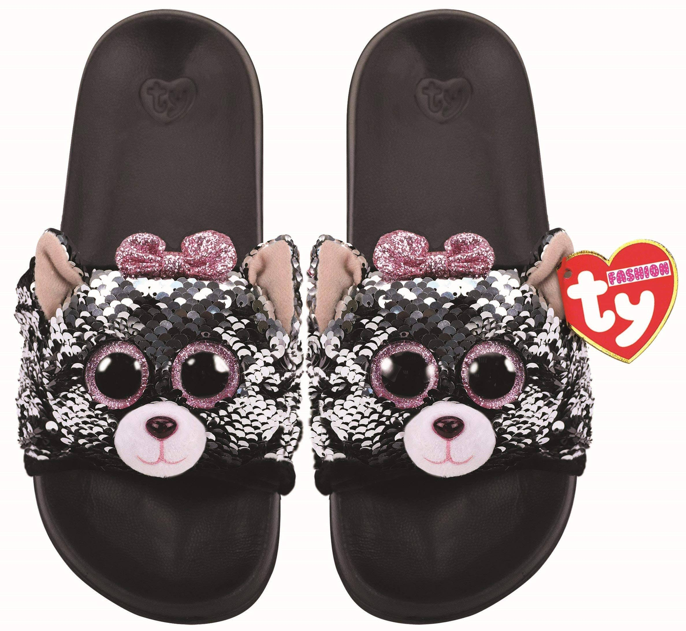 Ty Plush Kiki Cat Sequin Slides