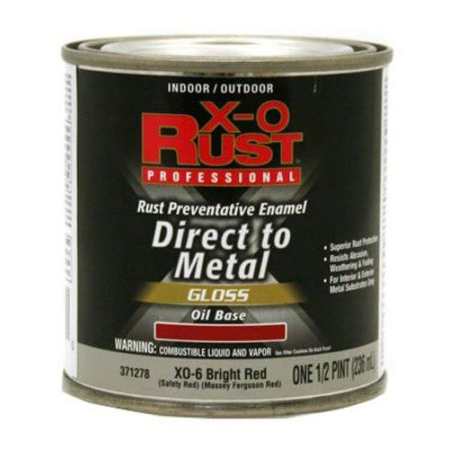 True Value MFG Company Anti-Rust Oil-Base Enamel - Bright Red Gloss, 1/2pt
