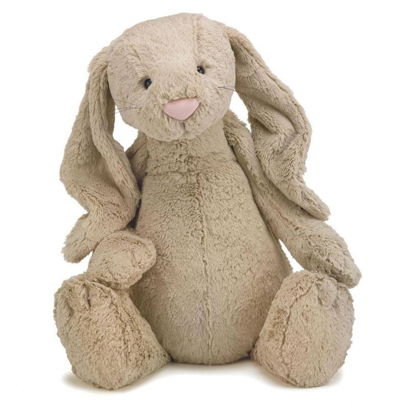 "Jellycat Huge Bashful Toy Bunny - 20"", Beige"