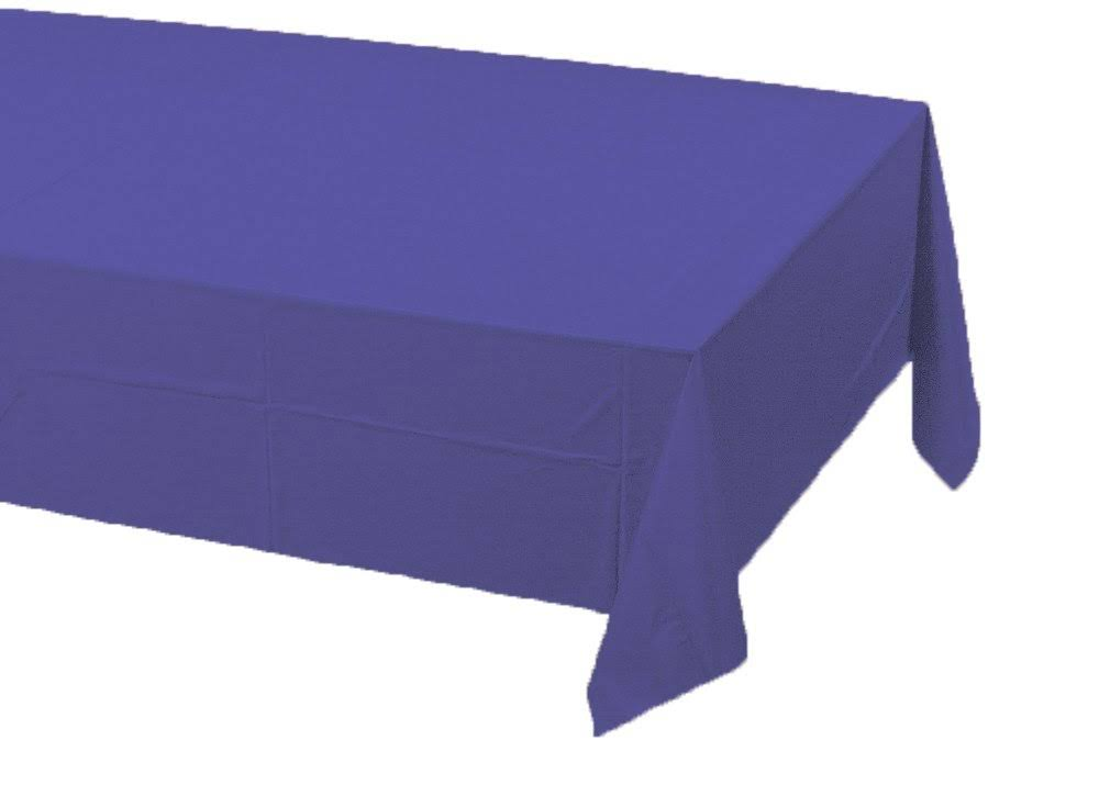 "Touch of Color Plastic-lined Table Cover - 54"" x 108"", Purple"