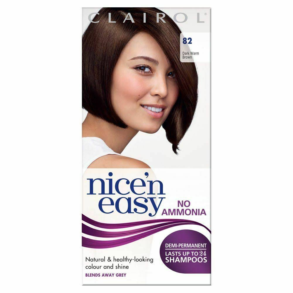 Nice'n Easy Non Permanent Hair Dye - 82 Dark Warm Brown