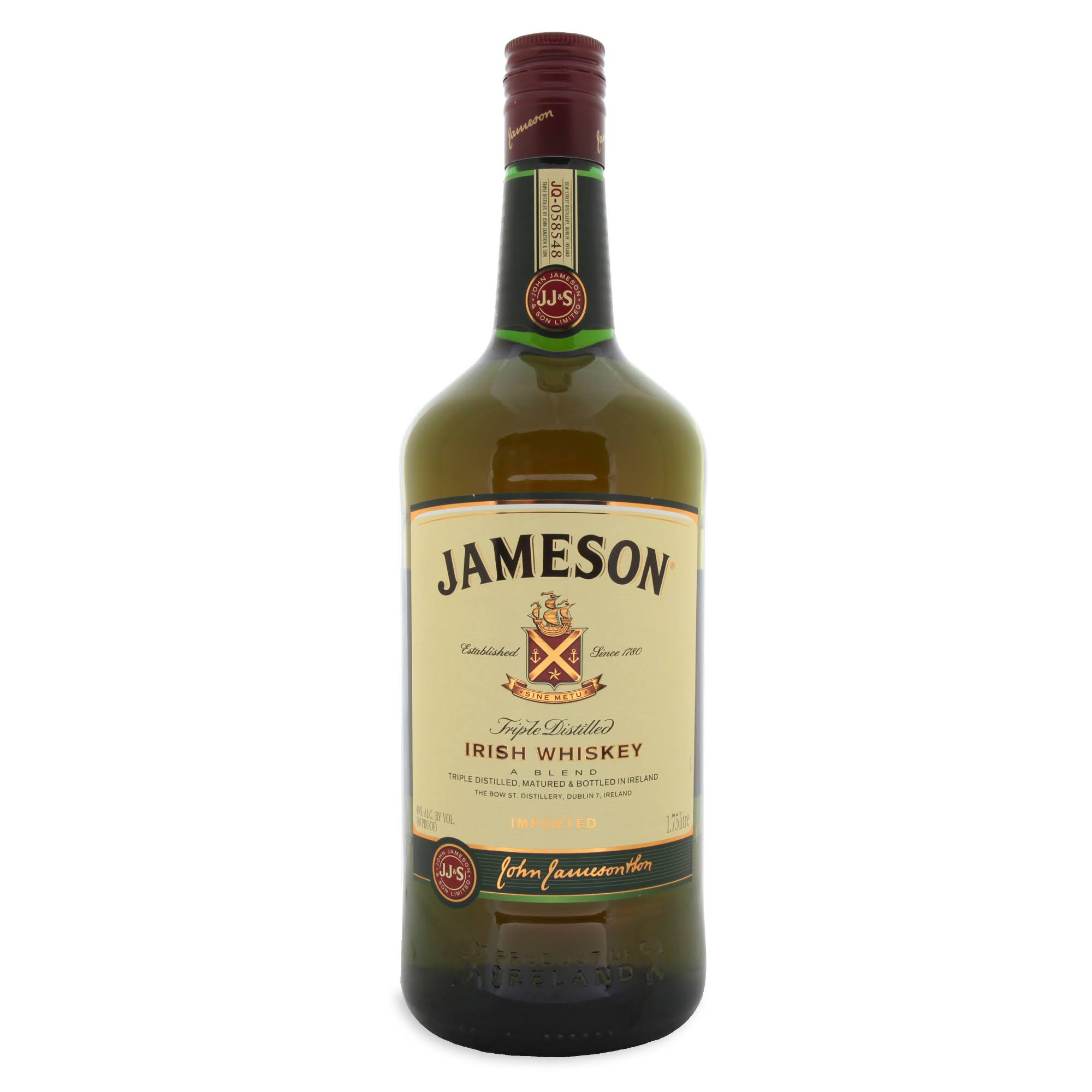 Jameson Whiskey, Irish, Triple Distilled - 1.75 lt