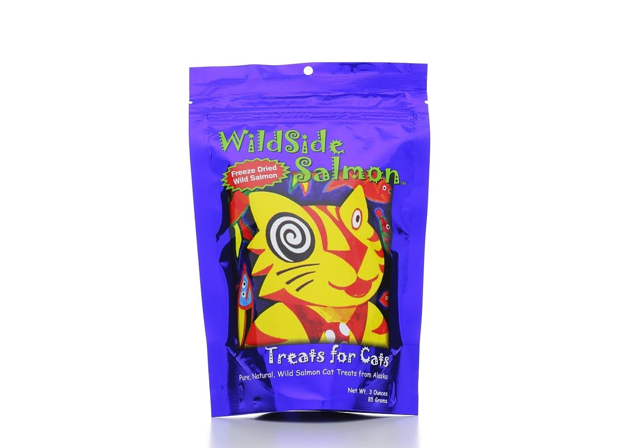 WildSide Salmon Cat Treats - 3oz, Freeze Dried Salmon