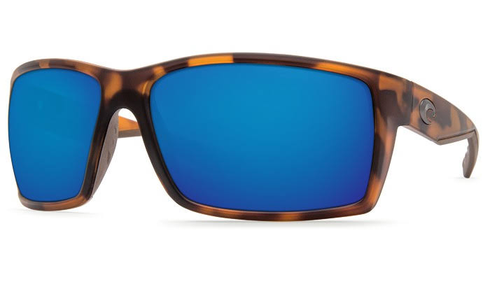 Costa Del Mar Reefton Polarized Sunglasses - Matte Tortoise/Blue Mirror, 580P