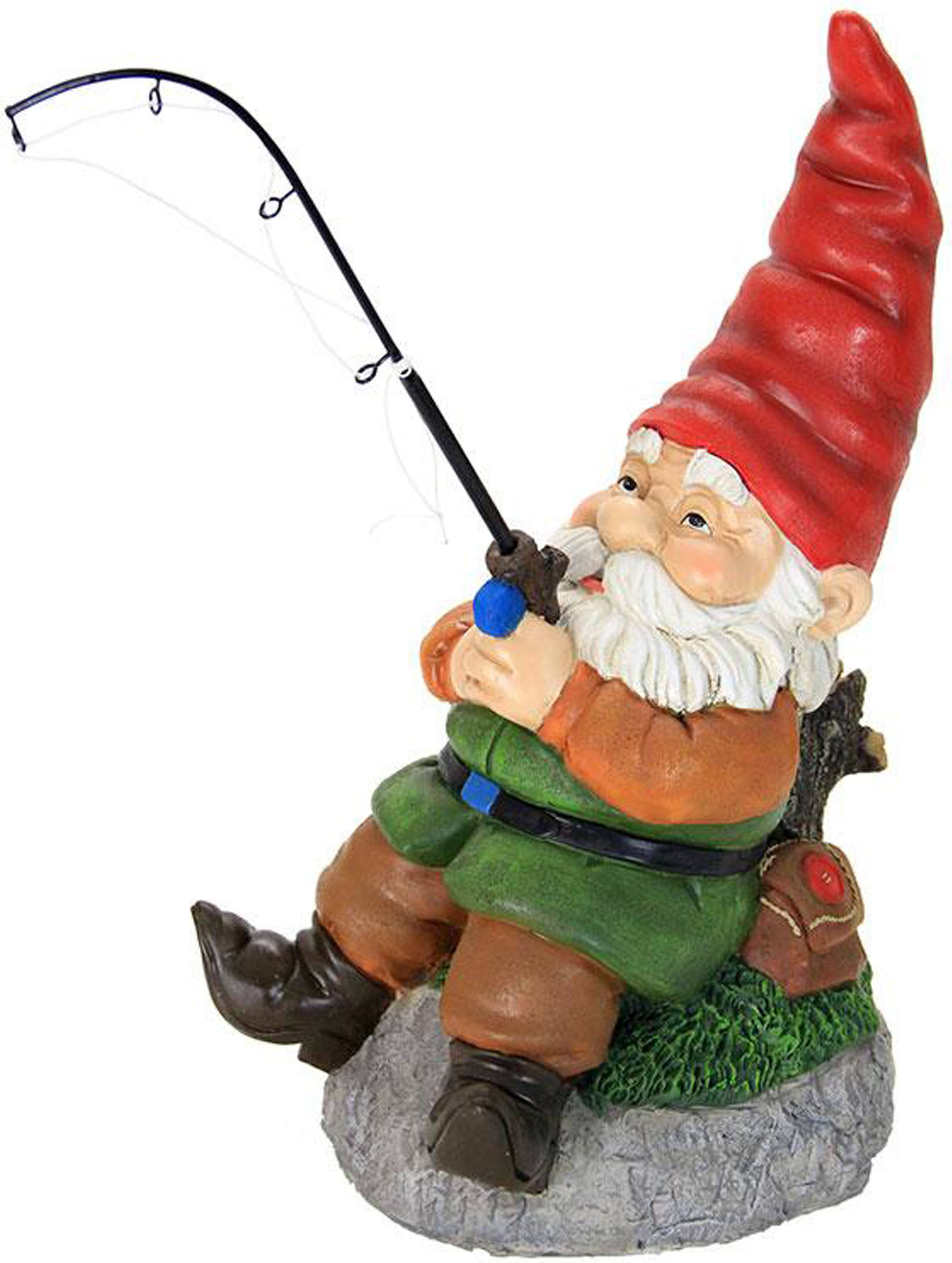 Exhart Fishing Gnome Garden Statue - 12""