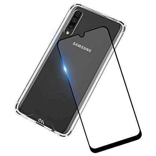 Case Mate - Protection Pack Tough Clear Case Plus Glass Screen Protector for Samsung Galaxy A50 - Clear