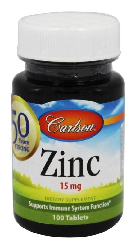 Carlson Labs Zinc Supplement - 15mg, 100 Tablets