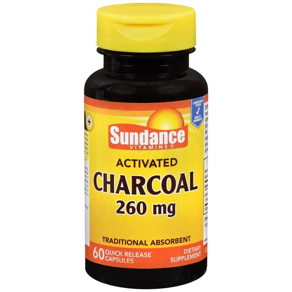 Sundance Vitamins Activated Charcoal Supplements - 60ct