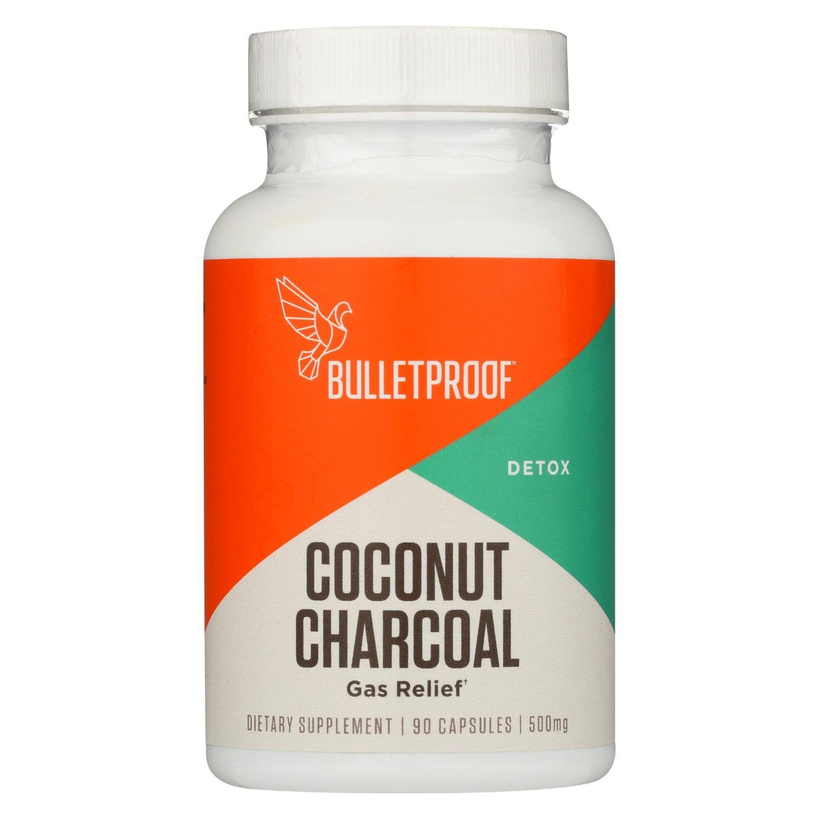 Bulletproof Coconut Charcoal Detox Gas Relief Supplements - 90ct