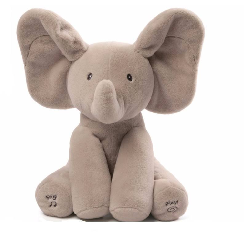 Gund Baby Flappy the Elephant Singing Plush Soft Toy - 30cm
