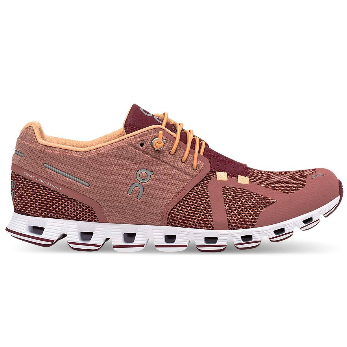 on Cloud Running Shoes Women's, Dustrose/Mulberry, 8.5