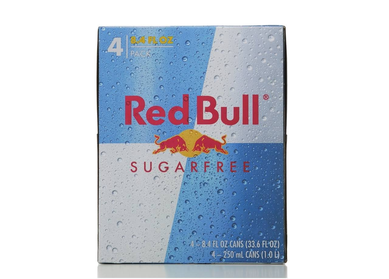 Red Bull Energy Drink - Sugarfree, 4 Cans