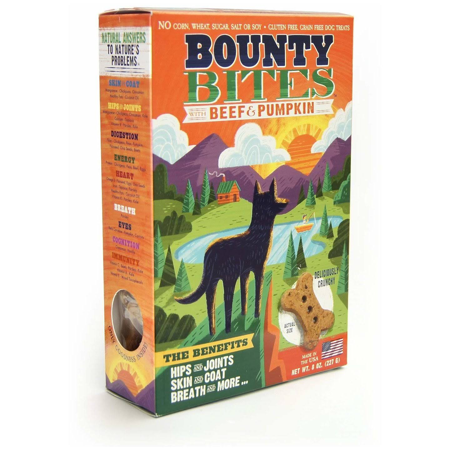 Bounty Bites Dog Treats - Beef & Pumpkin