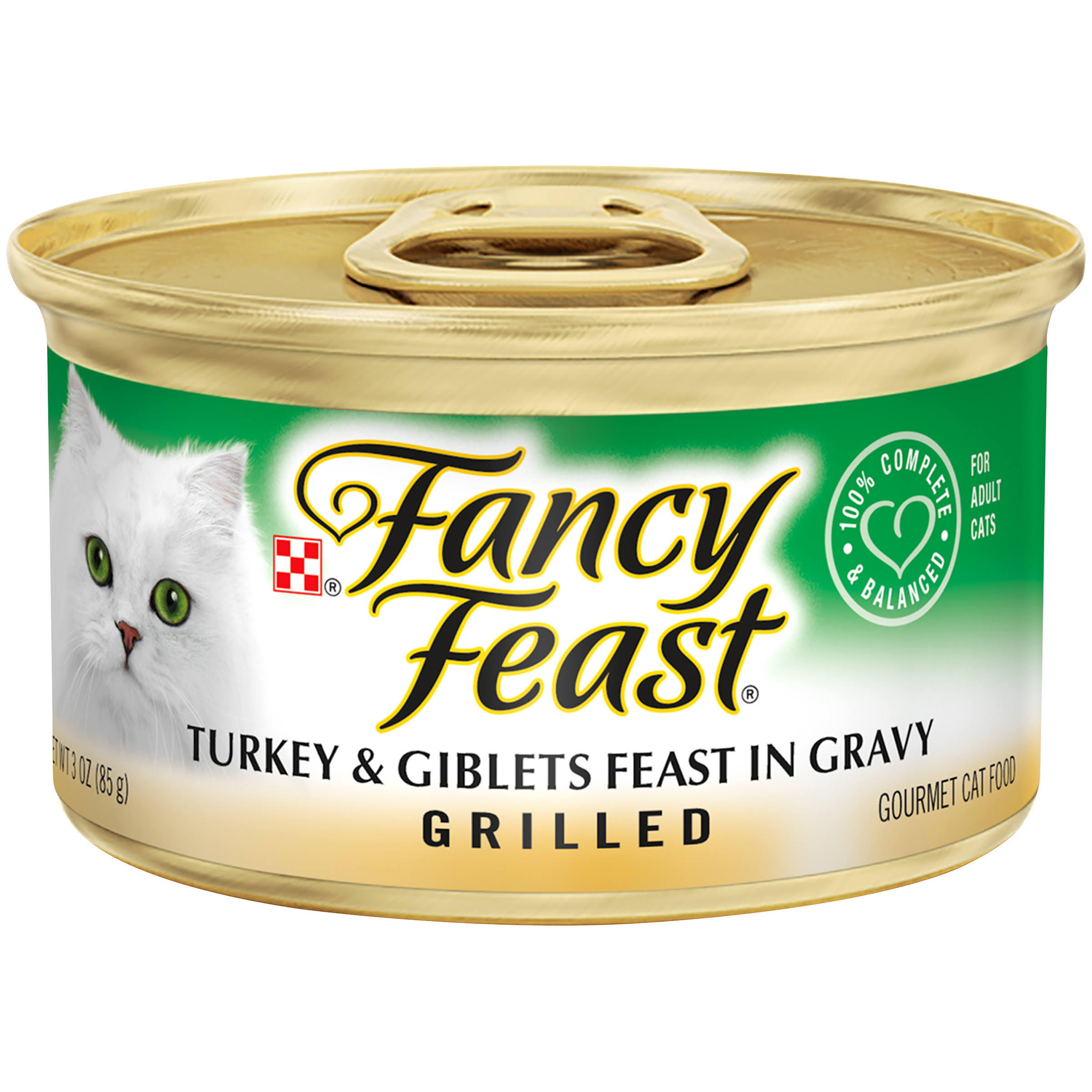 Purina Fancy Feast Grilled Feast in Gravy Gourmet Cat Food - Turkey and Giblets, 3oz