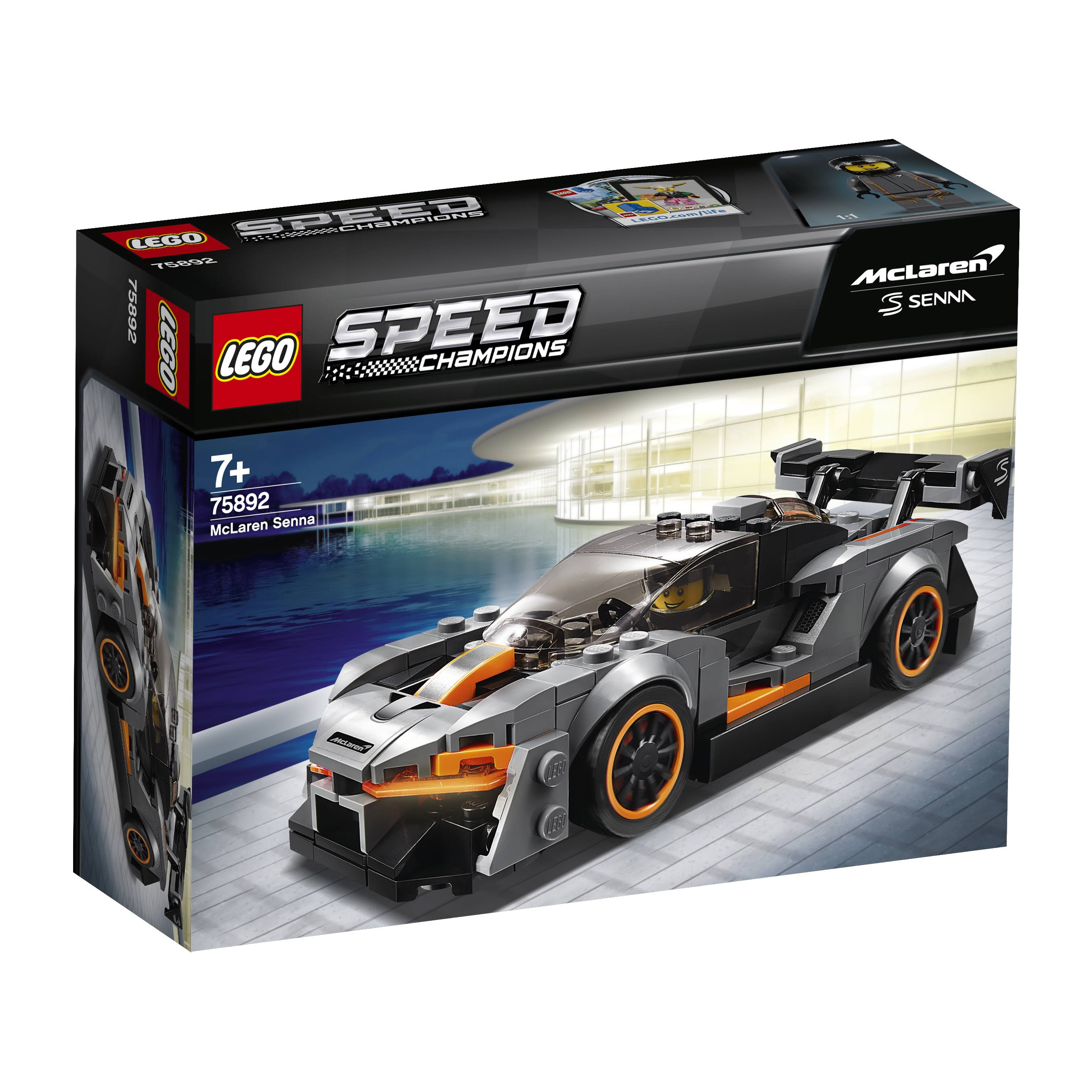 Lego Speed Champions McLaren Senna Building Kit - 219pcs