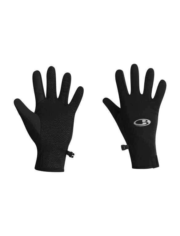 Icebreaker Quantum Running Gloves - Black, X-Small