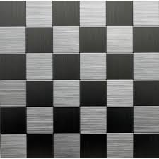 Versailles Tile Pattern Layout by Instant Mosaic 12 In X 12 In Peel And Stick Brushed Stainless