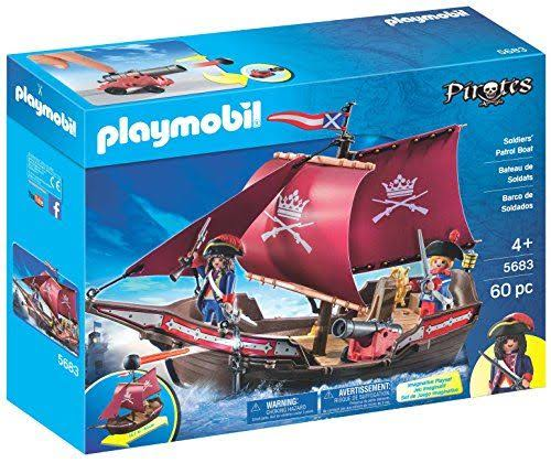 Playmobil Pirates Soldier's Patrol Boat Set - 60 Pieces