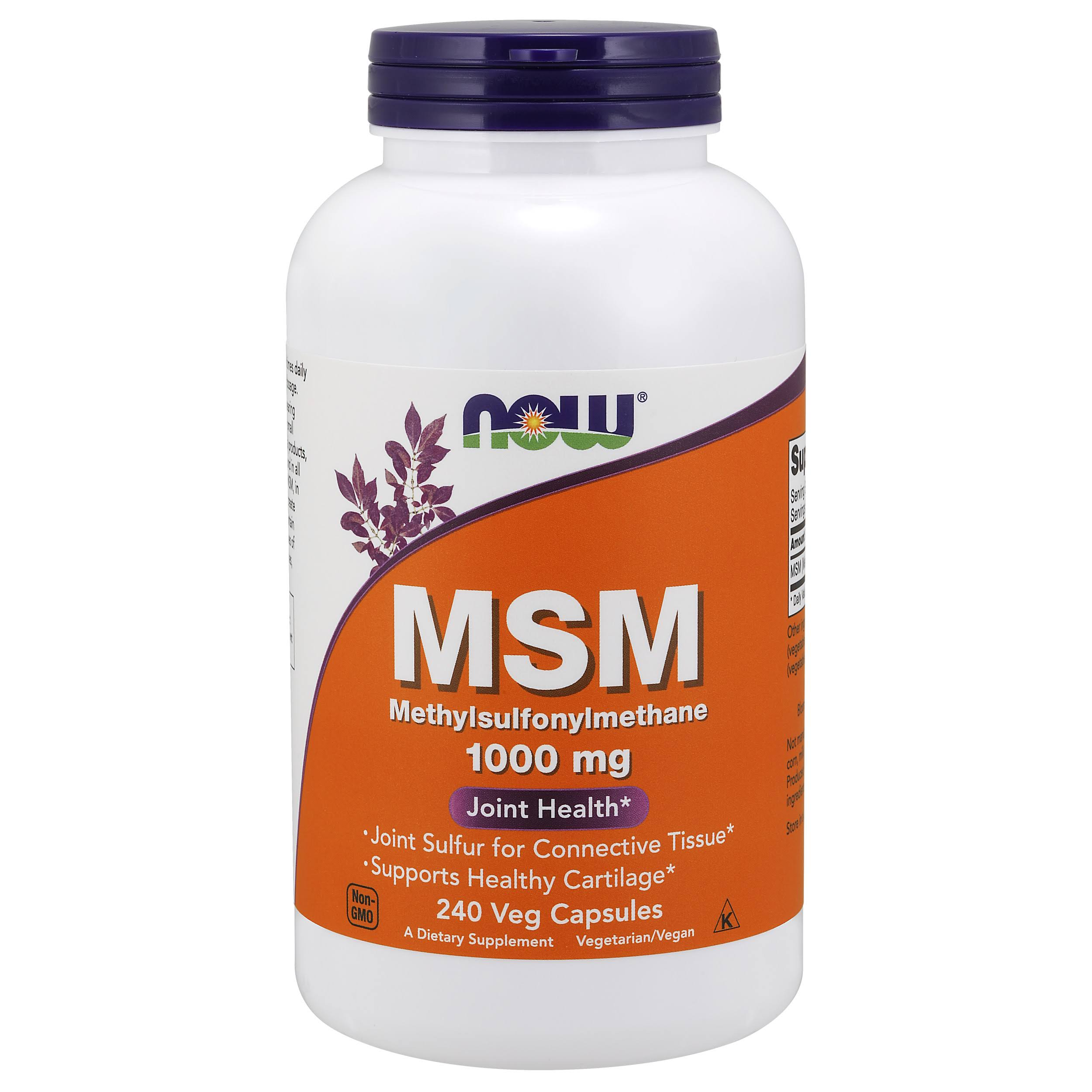 Now Foods Msm 1000mg Capsules - 240 Pack