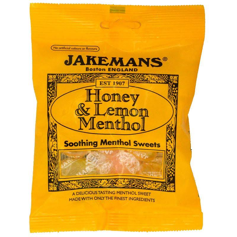 Jakemans Soothing Menthol Sweets - Honey and Lemon Menthol, 100g