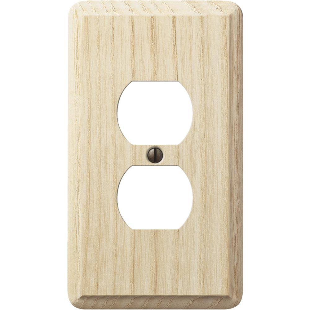 Amerelle Wood Outlet Wall Plate